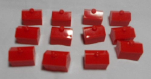 36 red Monopoly plastic hotels replacement pieces (Red Monopoly Hotels compare prices)