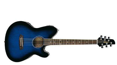Ibanez Tcy10Etbs Talman Acoustic/Electric Guitar With Rosewood Fingerboard, Transparent Blue Sunburst