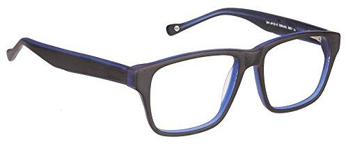 John Jacobs JJ 1355 Matte Black Blue UOUOEO Wayfarer Eyeglasses(95380)