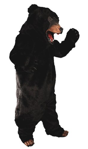 Black Bear Complete Adult Deluxe Costume Size Standard ONE SIZE