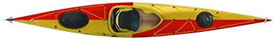 lifestyle444-R Tahe Marine Lifestyle 444 Composite Rudder Sit-In Flatwater Day Touring Kayak, Red/Yellow/White from Kayak Distribution