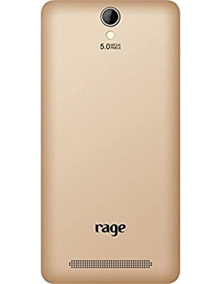 Rage Supremo 5.0 Android Kitkat(4.4.2),Quad core1.3 Ghz and 1GB RAM(Champagne)