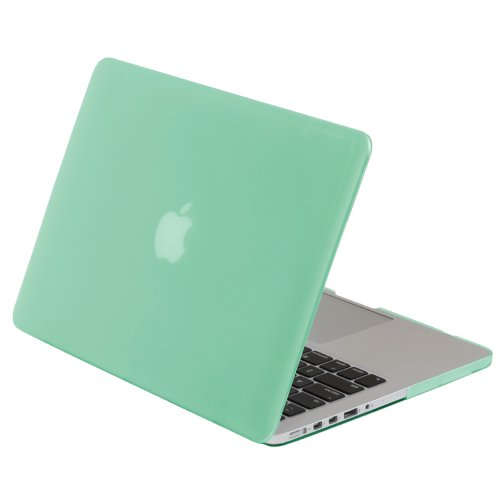 Greatshield Glazy Frosted Matte Slim Rubberized Hard Shell Case Snap On Cover For Apple Macbook Pro 15-Inch With Retina Display (Model: A1398) - Turquoise