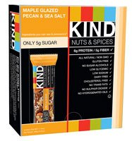 Kind Nuts & Spices Bar Maple Glazed Pecan & Sea Salt -- 12 Bars from Kind