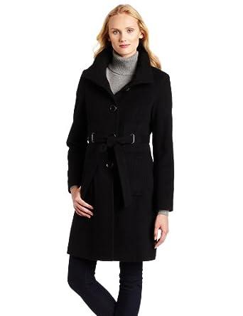 Via Spiga Women's Blend Wool Coat, Black, 8