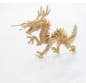 Thinkmax® 3-D Wooden Puzzle- Children And Adult'S Educational Building Blocks Puzzle Toy Dragon Model front-264096