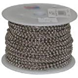 #6 Nickel Plated Steel Beaded Chain 100