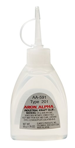 Aron Alpha Type 201 (2 cps viscosity) Regular Set Instant Adhesive 50 g (1.76 oz) Bottle