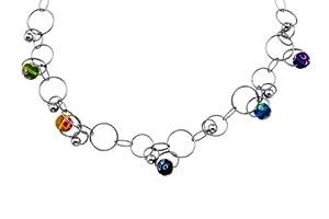 XC38 - 70101481310055 - Collier Femme - Fantaisie - Acier inoxydable - Perle de Murano - 55 cm