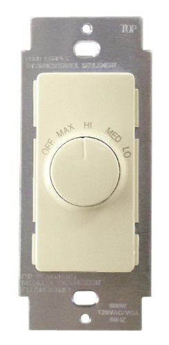 Leviton R01-RTF01-10I Decora Illumatech Quiet Fan Speed Control, Ivory