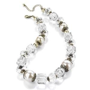 New Ladies Crystal Pearl Necklace Fashion Jewellery Uk