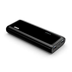 Anker® 2nd Gen Astro E4 13000mAh External Battery Portable Dual USB Charger Power Bank. PowerIQ™ Broad Compatibility, Fast Charging, High Capacity, Ultra Compact. For iPhone 6 5S 5C 5 4S, iPad Air mini, Galaxy S5 S4 S3, Note 3 4, Tab 4 3 2 Pro, Nexus, HTC One, One 2 (M8), LG G3, Nexus, MOTO X and More (Black).