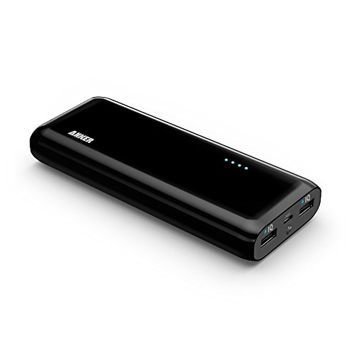 Anker® 2nd Gen Astro E4 13000mAh External Battery Portable Dual USB Charger Power Bank. PowerIQ™ Broad Compatibility, Fast Charging, High Capacity, Ultra Compact. For iPhone 5S 5C 5 4S, iPad Air mini, Galaxy S5 S4 S3, Note 3 2, Tab 4 3 2 Pro, Nexus, HTC One, One 2 (M8), LG G3, Nexus, MOTO X and More (Black).