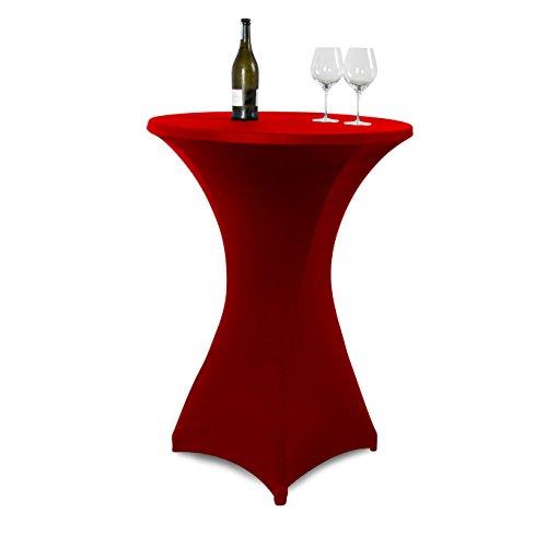 Vanage-Outdoor-Tischdecken-Strech-Husse-fr-StehtischeBistrotische-Tischdurchmesser-70-80-cm-rot