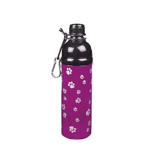Guardian Gear 24-Ounce Stainless Steel Dog Water Bottle, Purple