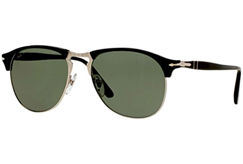 Persol Mens Sunglasses (PO8649S) Black/Green Acetate - Polarized - 53mm