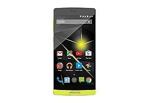 Archos 50 Diamond Smartphone débloqué 4G (Ecran: 5 pouces - 16 Go - Double SIM - Android 4.4 KitKat) Jaune