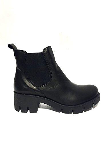 Tronchetti DV1781-04 in pelle con tacco elastico Divine follie 40, nero MainApps