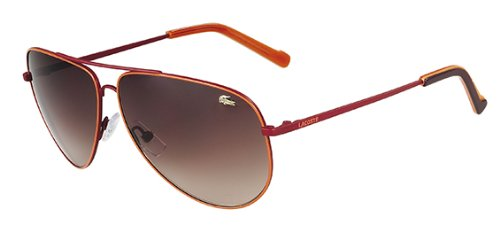 Lacoste Women's Metal Aviator Sunglasses – L129S (Satin Red)