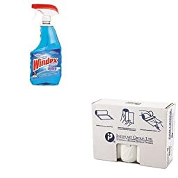 KITDRA90135EAIBSS404817N - Value Kit - IBS S404817N High Density Commercial Coreless Roll Can Liners, Natural (IBSS404817N) and Windex Powerized Glass Cleaner with Ammonia-D (DRA90135EA)