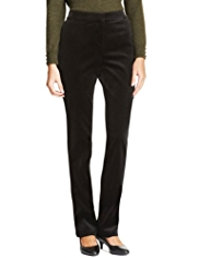 M&S Collection Cotton Rich Modern Slim Leg Velvet Trousers