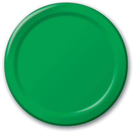 Festive Green Lunch Plates 24ct - 1