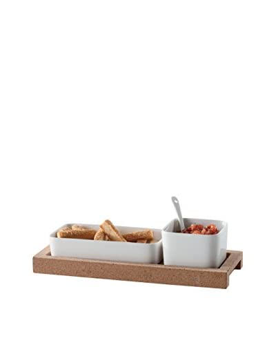 Torre & Tagus 4-Piece Evora Cork & Ceramic Set with Spoon