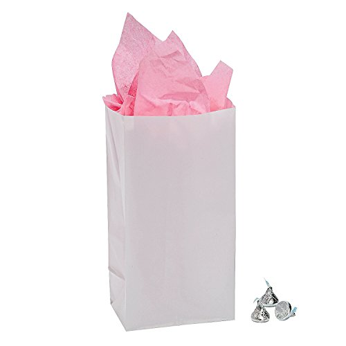 "White Gift Bags (12 Pack) 10"". Paper."