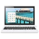 Acer Chromebook CB3-111-C5MB - Ordenador portátil (Chromebook, Touchpad, Chrome OS, Ión de litio, Color blanco, Concha)