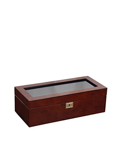 WOLF Savoy 5-Watch Box, Burlwood