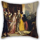 Alphadecor 18 X 18 Inches / 45 By 45 Cm Oil Painting James Drummond - The Return Of Mary Queen Of Scots To Edinburgh Pillow Cases ,each Side Ornament And Gift To Indoor,lover,bf,play Room,adults,hom (Tardis Fridge Cover compare prices)