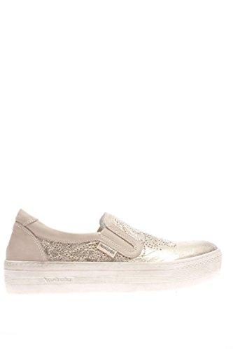 P615260D-415.Sneaker slip on pelle.Platino.38