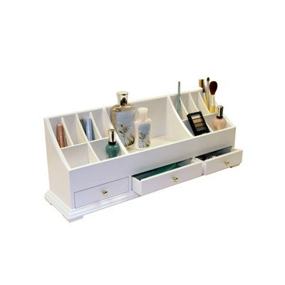 This organizer is designed for cosmetics, but we can definitely imagine  pens, pencils, staples and other office items fitting nicely in this  organizer. - 5 Favorite Home Office Desk Organizers - Virtual Vocations