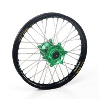 Haan Products Haan-Wheels Haan Wheels Kawasaki Green Hubs & Black Rims, 12-1.6 Kx65 Rear