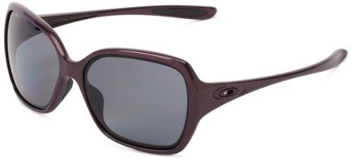 Oakley Woovertime OO9167-13 Polarized Sport Sunglasses,Dark Plum,55 mm