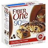 Fiber One, 90 Calorie Brownie, Chocolate Chip Cookie, 5.34-Ounce (Pack of 4)