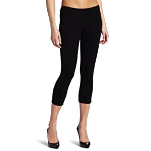 Hue Women's Cotton Capri Leggings, Black, Medium