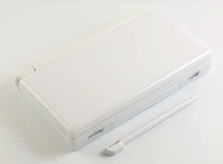 Polar White - High Quality Full Repair Housing Replacement Kit for Nintendo DS Lite with Hinge Set