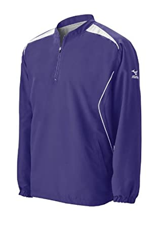 Mizuno Men's Prestige Long Sleeve G3 Batting Jersey (Purple, XX-Large)