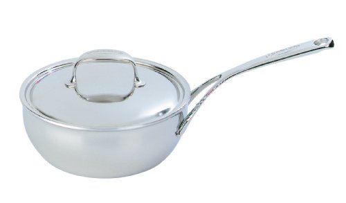 Demeyere Atlantis 3.5 Quart Conic Sauteuse Pan with Stainless Steel Lid