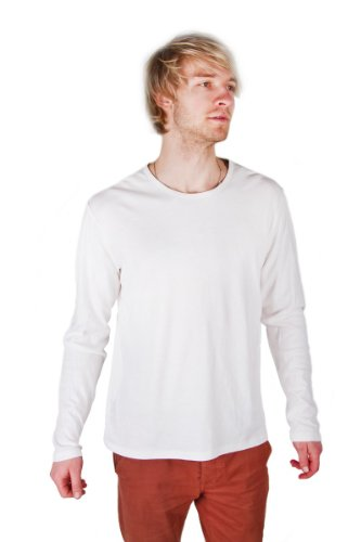 Marc O'Polo Men's Original 100% Cotton Slim Fit White Shirt Jumper Pullover L size