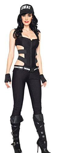 Ace Halloween Adult Women's Sexy Black Widow Police Costumes