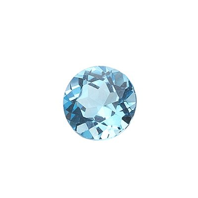 1.10 Cts of AAA 6 mm Round Loose Swiss Blue Topaz