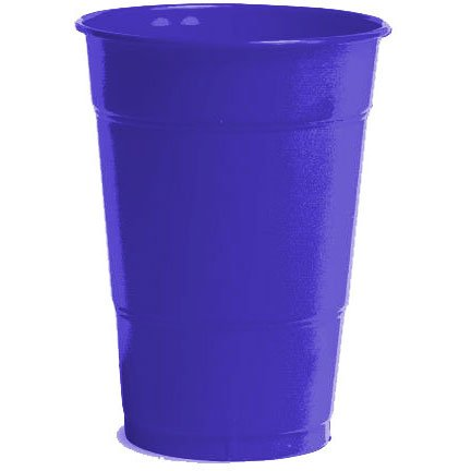 Amscan Big Party Pack 50 Count Plastic Cups, 12-Ounce, New Purple