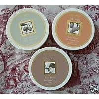 DELON Moisturizing Body Butter Variety 3 Pack one each of Coconut, Mango, and Olive 6.9 oz each