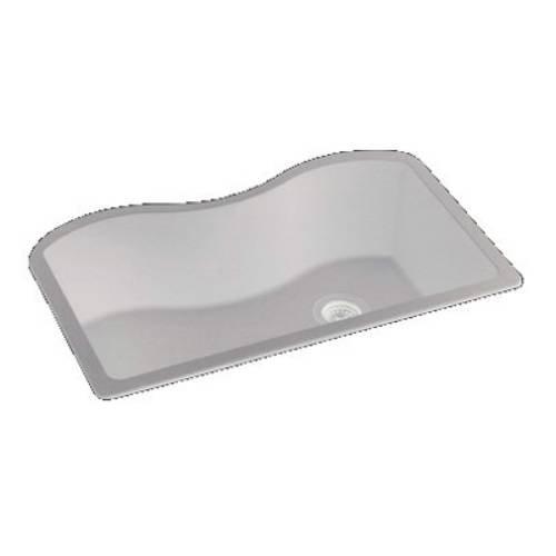 Elkay ELGUS3322RWH0 Harmony 20-Inch x 33-Inch Single Basin Undermount Granite Composite Kitchen Sink, White
