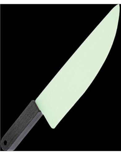 One Plastic Glow In The Dark Butcher Knife - 11.25""