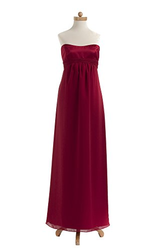 Ever Beauty Maternity Empire Waist Bridesmaid Dress With Chiffon Skirt Barberry Size 10 front-739860