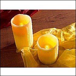 2x Candlelight LED Wachskerze Luftzug Sensor