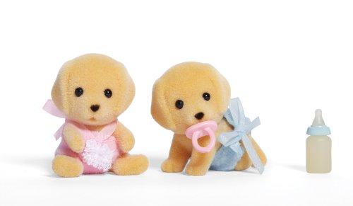 Calico Critters Yellow Lab Twins